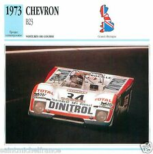 CHEVRON B23 1973 CAR VOITURE GREAT BRITAIN GRANDE BRETAGNE CARTE CARD FICHE