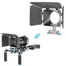 Neewer DSLR Matte Box Fr 15mm Rail Rod Suppot Focus Rig Canon EOS 60D 5D Mark II