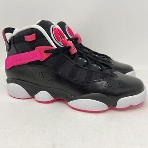 Nike Air Jordan 6 Rings Black Hyper Pink Black GS 5.5Y Women's 7 New 323399-061