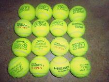 16 Premium usati Palline da Tennis, Wilson, HEAD, Dunlop, ecc. GRANDE dog toys