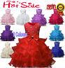 Flower Girl Kid Wedding Bridesmaid Princess Dress Bow Tutu Formal Party Dresses