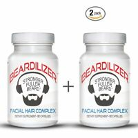 Men's Facial Hair and Beard Growth Supplement (2 Pack of 90 Caps)