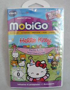 V-Tech MobiGo Hello Kitty feiert Geburtstag 4 Lernspiele 80-252404