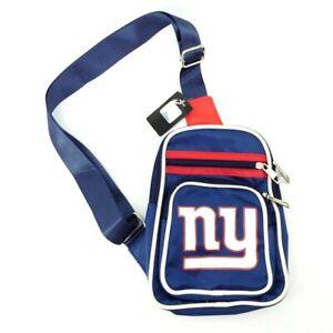 New York Giants Officially Licensed NFL Navy Crossbody Zippered Shoulder Bag