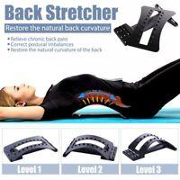 3 Level Back Muscle Stretcher Posture Corrector Support Pad Lumbar Massage UK