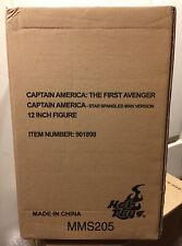 Hot Toys MMS 205 - Captain America 'Star Spangled Man' 1/6 Scale NEW! US Seller!