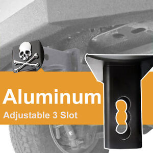"""Tow Towing Trailer Hitch Cover w/ 3D Emblem For 2"""" Receivers Tube Aluminum Plug"""