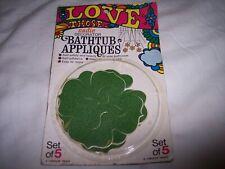 Vintage Dupont cadie decor green Flower Bathtub 5 Appliques
