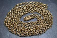 Stunning Antique Georgian Pinchbeck Watch Guard Muff Chain W Original Clasp