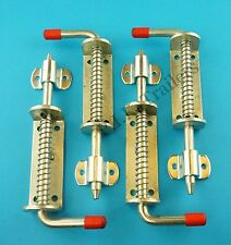 FREE P&P* 4 x Large 225mm Spring Shoot Bolts & LATCH PLATE for Gates & Trailers