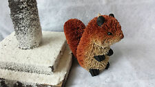 Gisela Graham Set 6 Bristle Animal Rabbit Hedgehog Squirrel Christmas Decoration