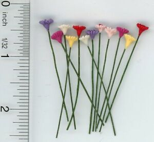 5Pc 1//12 Clay Rose rosse fiori String Bunch per Dollhouse Fairy Garden Decor