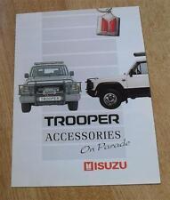 Isuzu Trooper Accessories Brochure 1990