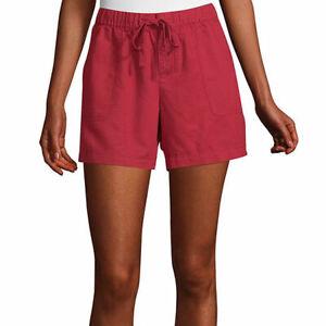 "Liz Claiborne Women's Soft Shorts Size XX-LARGE Paris Red Stretch Waist 5"" Ins"