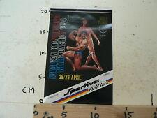 STICKER,DECAL EUROPEAN BODY BUILDING CHAMPIONSHIPS 1984 MEN & WOMAN SPORTIVO