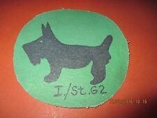 WWII LUFTWAFFE BATTLE OF BRITIAN STUKA IST.G2 GROUP SCOTTIE  FLIGHT JACKET PATCH