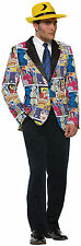 Adult Pop Art Blazer Cartoon Comic Book Costume One Size