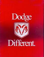 Dodge Cars Prospekt USA 7/99 Durango Dakota Caravan 1999 Autoprospekt Auto