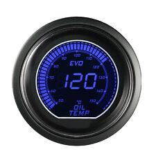 "Smoke Len 2"" 52mm Blue Red Oil Temp Temperature Gauge Car Digital LED Light"