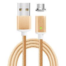 Magnet Micro-USB Lade Kabel Daten Sync Magnet Stecker beidseitig steckbar - gold