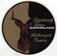 HUGE SAFARILAND Authorized Dealer VINTAGE STICKER Decal HUNTING Weapons ARMOR