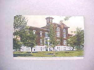 1907 SALINA KANSAS WESLEYAN UNIVERSITY VIEW OF BUILDING EXTERIOR VG+