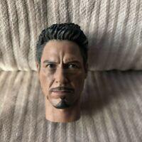 Supreme 1/6 Scale Civil War Tony Stark Head Sculpt For Hot Toys Figure Body