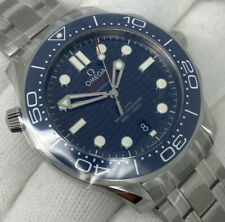 OMEGA Seamaster Unworn Ceramic Blue Dial Box Papers 42mm New 210.30.42.20.03.001