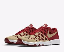 Nike Train Speed 4 AMP San Francisco 49ers Mens Shoes 11.5 Gold Red 848587 709