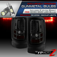^Superior LED Bulb Reverse^ 94-01 Dodge Ram 1500 2500 3500 Dark Smoke Tail Light