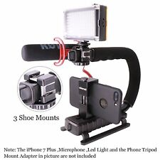 Video Stabilizer Camera Handheld DSLR Camholder iPhone 7 Plus Cannon Handle Grip