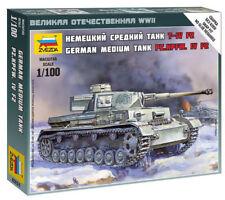 Zvezda 1/100 German Panzer IV F2 Medium Tank Z6251
