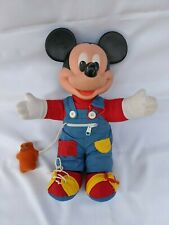 Vintage 1980s Mickey Mouse Learn to Dress Me Doll Mattel Button Zipper​ Shoe Tie
