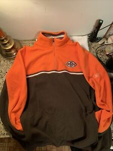 Cleveland Browns REEBOK NFL TEAM APPAREL FLEECE PULLOVER SIZE L EMBROIDERED LOGO
