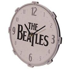 New Novelty Iconic Beatles Drum Clock 30cm Kitchen Lounge christmas Gift Item