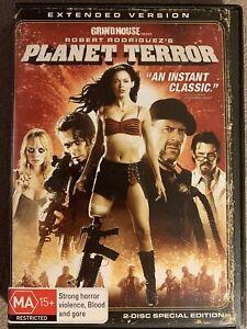 PLANET TERROR DVD EXTENDED VERSION 2 DISC SPEC EDITION REGION 4 NEW / SEALED