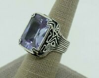 Silpada Sterling Silver Lavender Fields Band Ring R2001  Size 8
