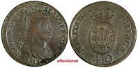 Portugal Joao Prince Regent Bronze 1813 40 Reis 36 mm ch.VF KM# 345.1 (17 717)