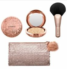 MAC-Snowball Holiday Gift Set~WHISPER OF GILT~Gold Bag Brush Highlight WORLDWIDE