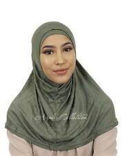 Amira two-piece On the Go Instant Jersey Cotton Plain Basic Hijab Scarf