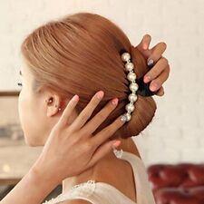 Pearl Crystal Hair Clip Grips Hair Claw Clamp Wedding/Bride/Bridal Prom Stylish