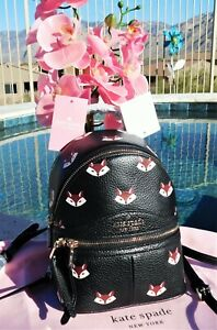 🌸NWT Kate Spade New York Out of the Woods Fox Mini Convertible Leather Backpack