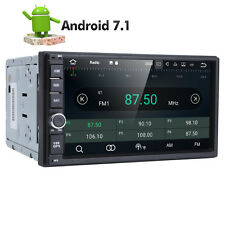 "7"" Android 7.1 HD 1024*600 Double 2din Car stereo radio GPS Navi BT Quad core"