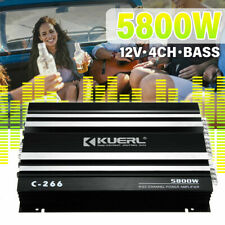 5800W 12V 4Ch Car Power Amplifier Subwoofer Stereo Audio Amp Bass Low Distortion