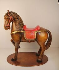 Rare Sergio Bustamante Large Standing Carousel Horse, signed by artist