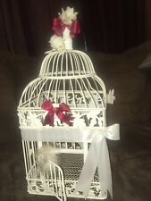 Wedding Bird Card Money Holder Party Shower white cage but DIY easily to YOU!