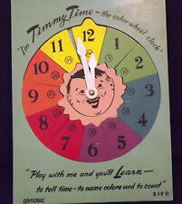 VINTAGE TIMMY TIME COLOR WHEEL WONDER PUZZLE  GR NOBLE SIFO PLAY & LEARN 1950'S