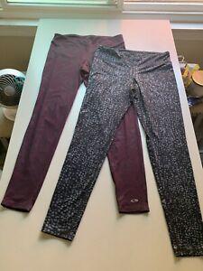 "Pair of 2 CHAMPION  Duo Dry Leggings Active Pants Sz Lg / Inseam 28"" & 29"""