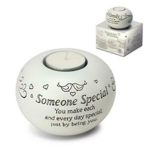 SAID WITH SENTIMENT TEALIGHT HOLDER - SPECIAL SOMEONE WITH SENTIMENTAL QUOTE GIF