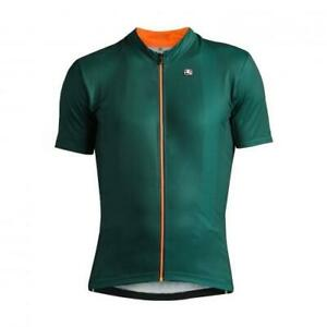 Giordana Cycling Short Sleeve Jersey Fusion Mens|Dark Green/Orange